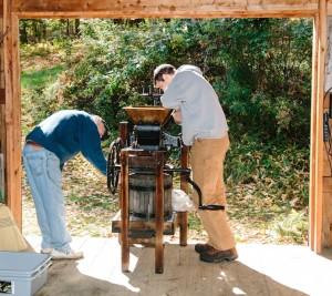 Preparing the Cider Press
