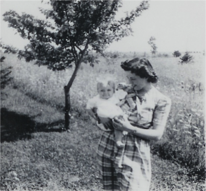 Mom and Evelyn Jeane circa first half of 1945