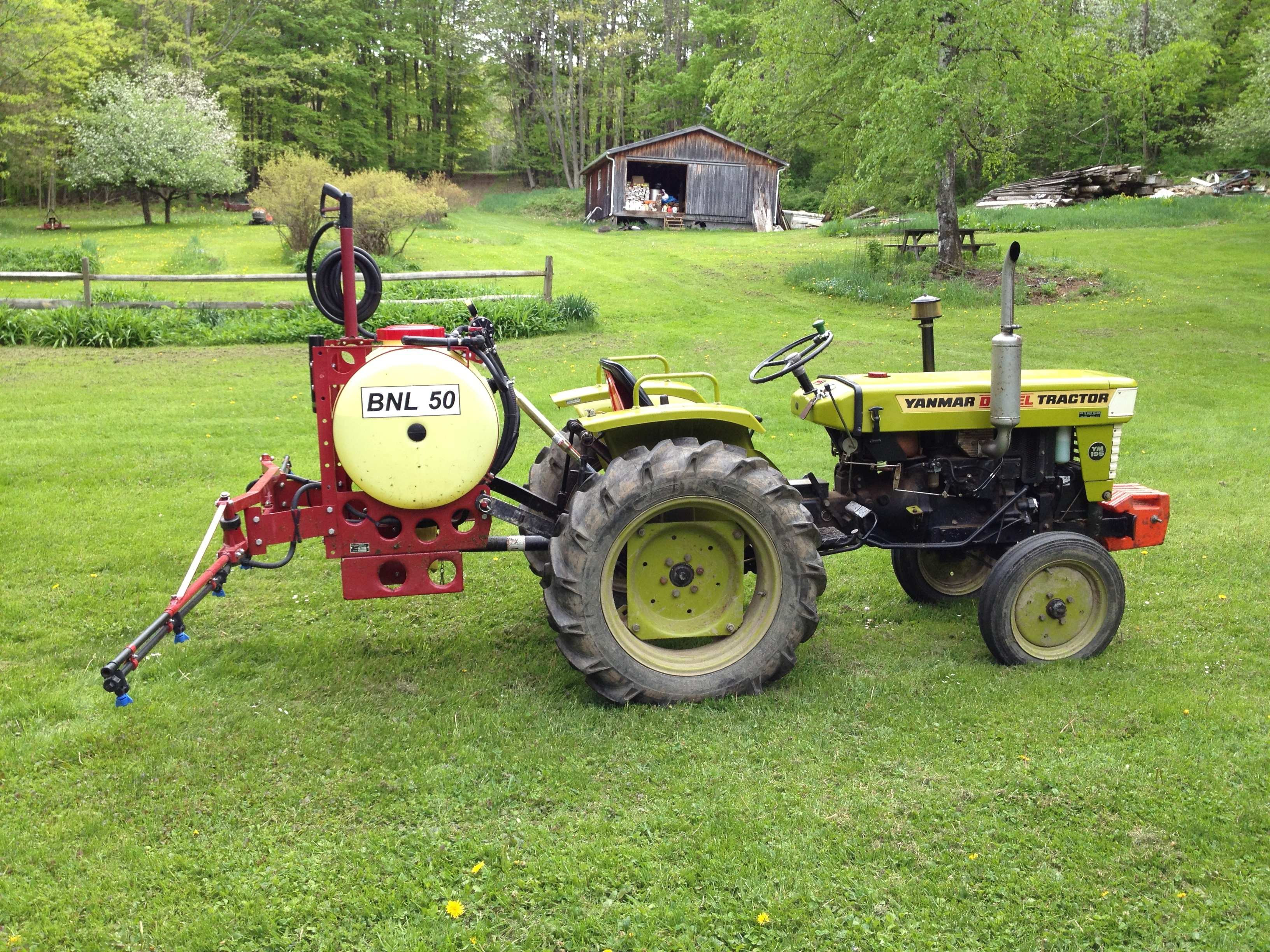 Adding weight to the front of the tractor