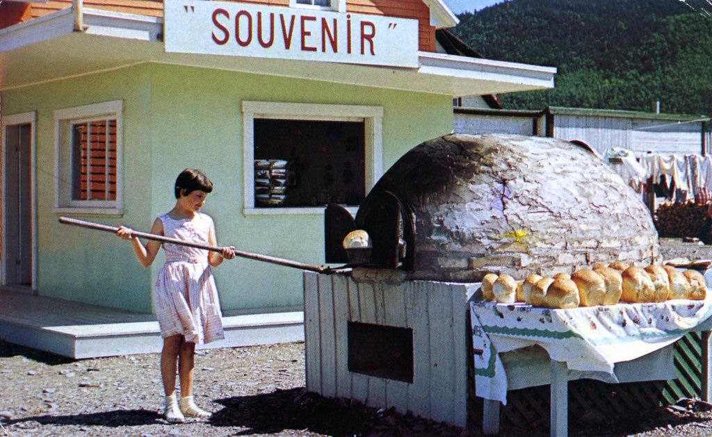 Gaspe oven and bread for sale, circa 1961