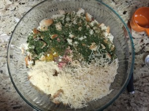 Add parsley and parmesan
