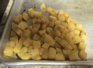 Roasted rutabaga mildly sweet and delicious
