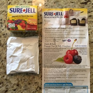 Sure-Jell helps make the jam jell!!
