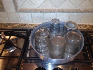 Sterilize the jars in a water bath!