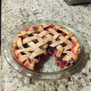 Rhubarb / Boysenberry Pie