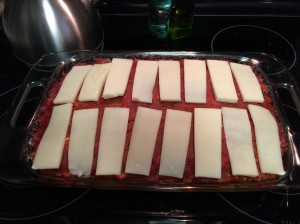 Add cheese 12-20 minutes before taking out of the oven