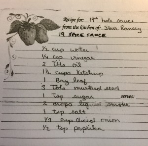 19th Hole Sauce Recipe from Jim and Starr Ramsey